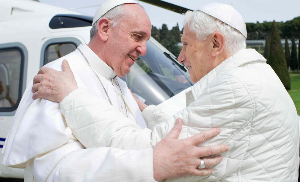 Encuentro Benedicto XVI y Francisco, en Castelgandolfo.
